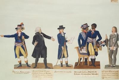 Deputies of the National Convention, Mirabeau and Deputy Granet. C.1794-5 (Gouache)