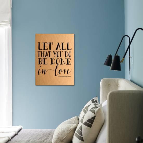 Let All That You Do Rose Gold Black Art Print Tara Moss Art Com