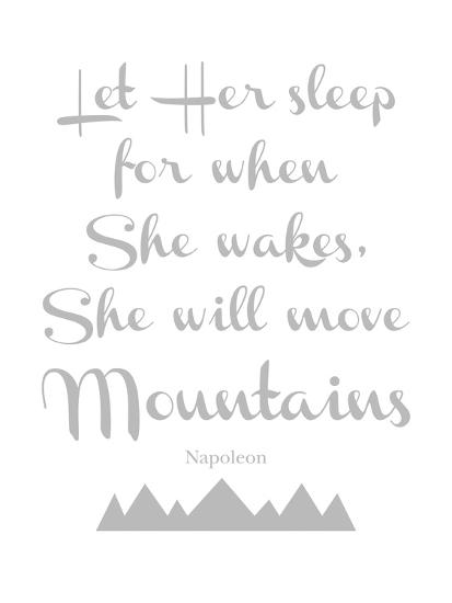 Let Her Sleep Mountains Gray-Amy Brinkman-Art Print