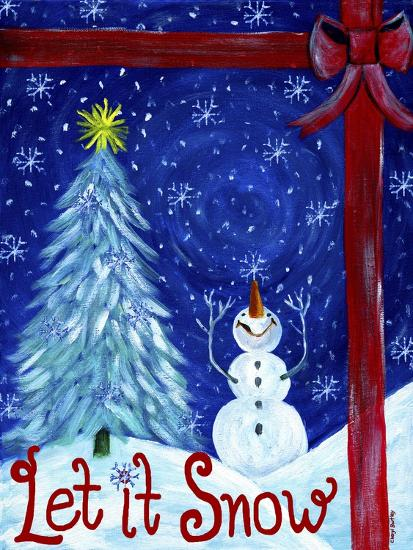 Let It Snow Christmas Tree-Cheryl Bartley-Premium Giclee Print