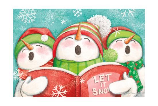 Let it Snow IV-Mary Urban-Art Print