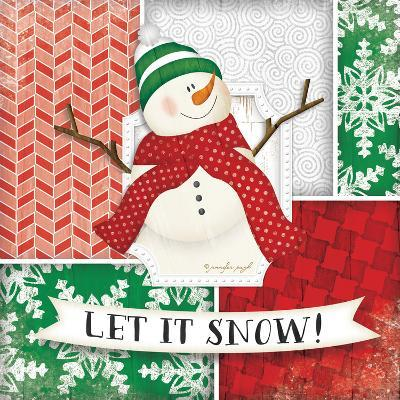 Let it Snow Snowman-Jennifer Pugh-Art Print