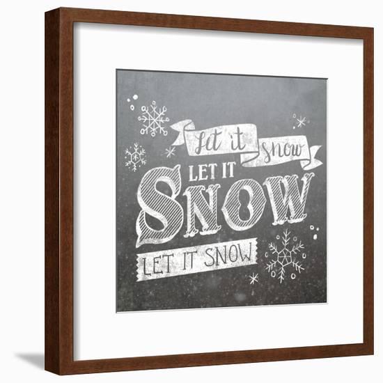 Let it Snow-Laura Marshall-Framed Art Print