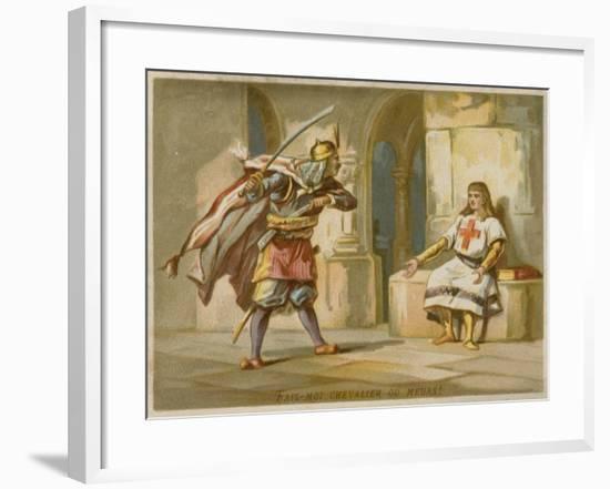 Let Me Knight or Die!--Framed Giclee Print