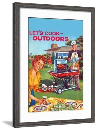 Let's Cook Outdoors--Framed Art Print