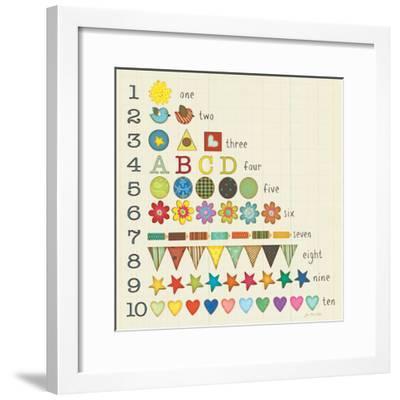 Let's Count!-Jo Moulton-Framed Premium Giclee Print