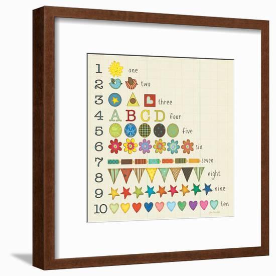 Let's Count!-Jo Moulton-Framed Art Print