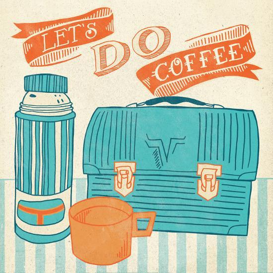 Let's Do Coffee Orange-Mary Urban-Art Print