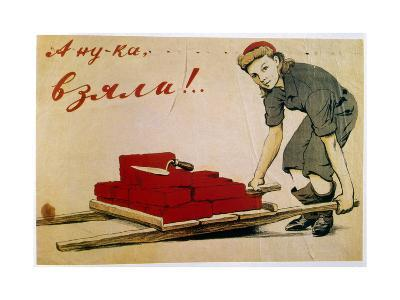 Let's Do It!, Poster, Russian, 1944-I Serebriany-Giclee Print