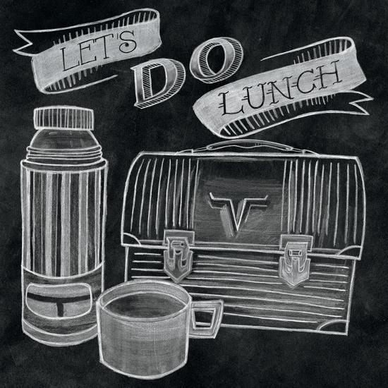 Let's Do Lunch Chalk-Mary Urban-Art Print