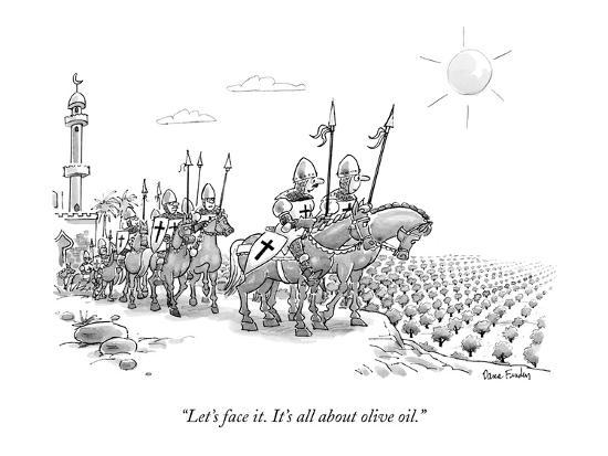 """Let's face it. It's all about olive oil."" - New Yorker Cartoon-Dana Fradon-Premium Giclee Print"