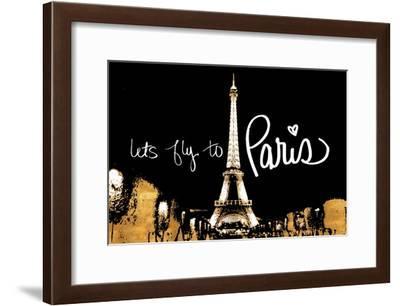 Let's Fly To Paris-Emily Navas-Framed Art Print