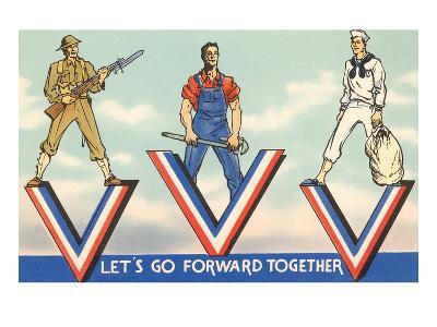 Let's Go Forward Together--Art Print