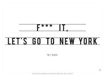 Let's Go to New York-Antoine Tesquier Tedeschi-Art Print