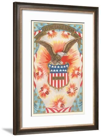 Let the Eagles Scream--Framed Art Print