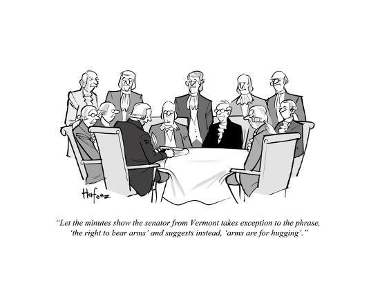 """Let the minutes show the senator from Vermont takes exception to the phra?"" - Cartoon-Kaamran Hafeez-Premium Giclee Print"