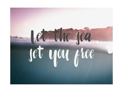 Let the Sea Set You Free-Lila Fe-Art Print