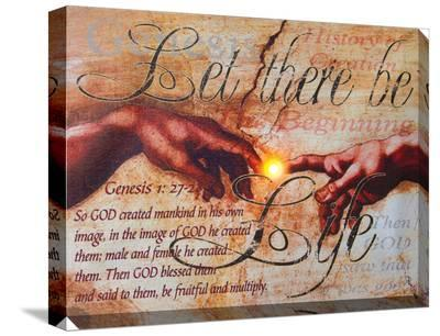 Let There Be Life (Genesis)--Stretched Canvas Print