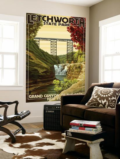 Letchworth State Park, New York - Grand Canyon of the East-Lantern Press-Wall Mural
