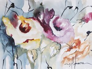 Blooms Aquas IV by Leticia Herrera
