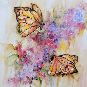 Dos Monarchas by Leticia Herrera