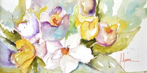 Horizontal Flores IV by Leticia Herrera