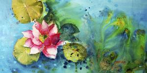 Horizontal Flores VI by Leticia Herrera