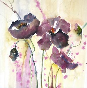 Plum Poppies II by Leticia Herrera