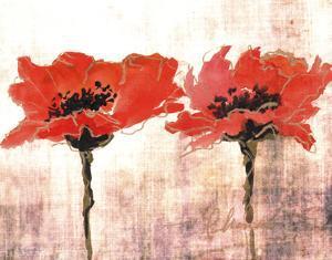 Vivid Red Poppies V by Leticia Herrera