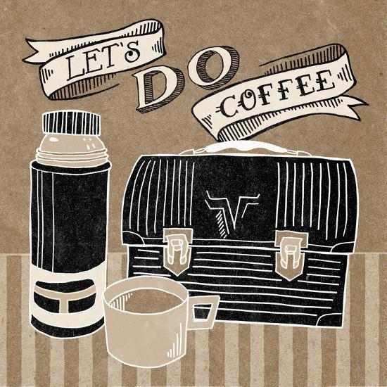 Lets Do Coffee Taupe-Mary Urban-Art Print