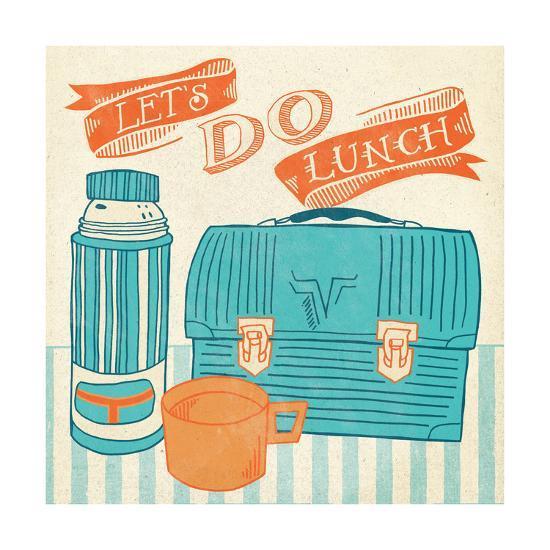 Lets Do Lunch Orange-Mary Urban-Art Print