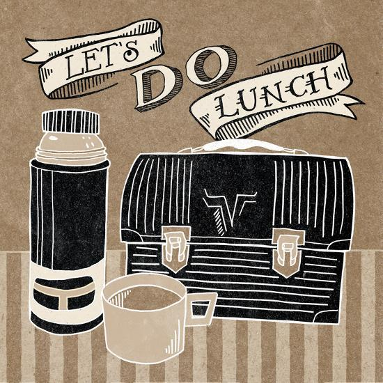 Lets Do Lunch Taupe-Mary Urban-Art Print