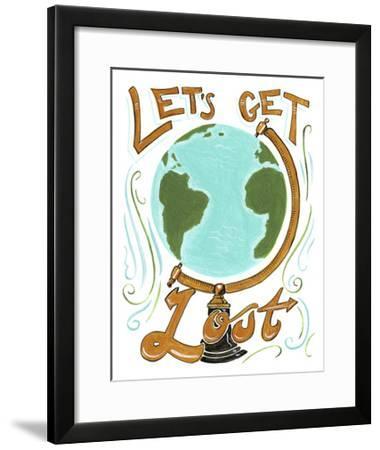 Lets Get Lost-CJ Hughes-Framed Giclee Print