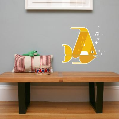 Letter A - Alex the Angelfish Wall Decal-Wee Society-Wall Decal