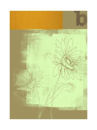 Letter B and Two Flowers--Art Print