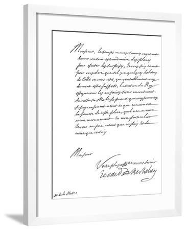 Letter by Cardinal Richelieu, to Monsieur De La Motte, 17th Century-Frederick George Netherclift-Framed Giclee Print