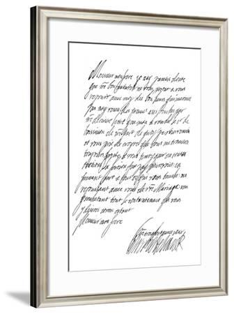 Letter by Henrietta Maria, Queen of Charles I, 17th Century-Frederick George Netherclift-Framed Giclee Print