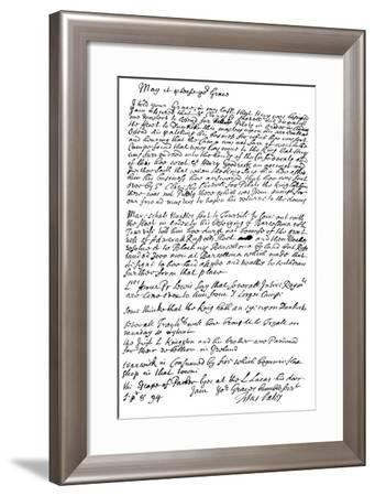Letter by Titus Oates to the Duke of Bolton, 1694-Frederick George Netherclift-Framed Giclee Print