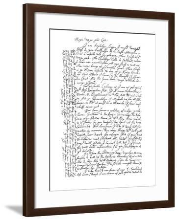 Letter by William Laud, Archbishop of Canterbury, 1640-Frederick George Netherclift-Framed Giclee Print