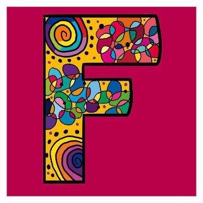 Letter F-Emi Takahashi-Art Print