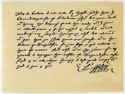 Letter from Grant, as Edward Spenser to One Mchenry, C1589-Edward Spenser-Giclee Print