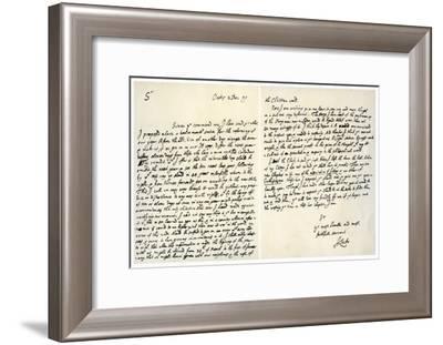 Letter from John Locke to Hans Sloane, 2nd December 1699-John Locke-Framed Giclee Print