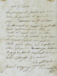 Letter from Joseph Bonaparte Antony Padua Carcopino
