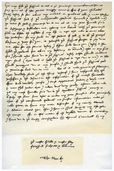 Letter from Sir Thomas More to Henry VIII, 5th March 1534-Thomas More-Giclee Print