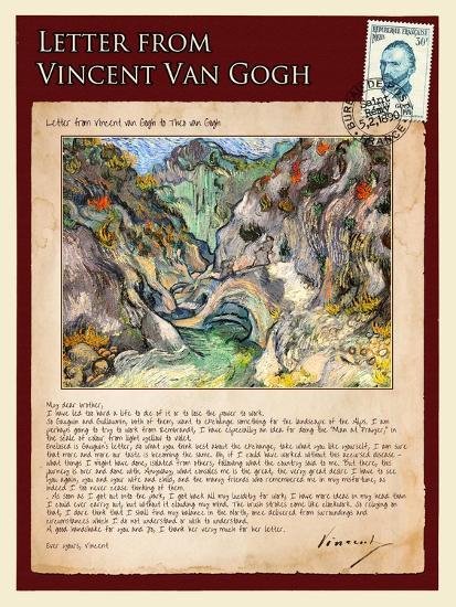 Letter from Vincent: Les Peiroulets Ravine-Vincent van Gogh-Giclee Print