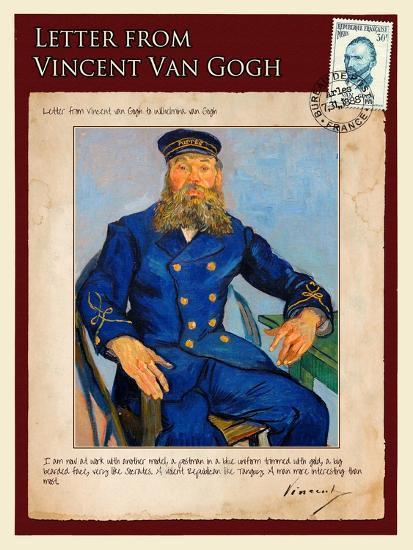 Letter from Vincent: Portrait of the Postman Joseph Roulin-Vincent van Gogh-Giclee Print