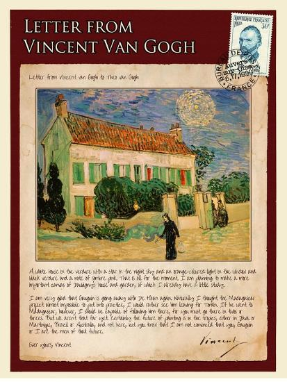 Letter from Vincent: White House at Night-Vincent van Gogh-Giclee Print