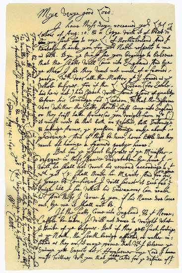 Letter from William Laud, Archbishop of Canterbury to Edward Conway, 14th August 1640-William Laud-Giclee Print