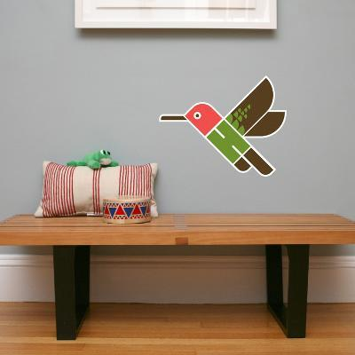 Letter H - Hai the Hummingbird Wall Decal-Wee Society-Wall Decal