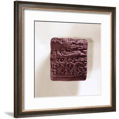 Letter in cuneiform writing, Sumerian, Iraq, 3rd millennium BC-Werner Forman-Framed Giclee Print